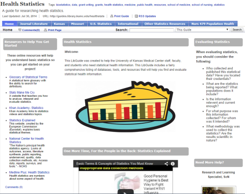 Health Statistics Subject Guide (LibGuide)